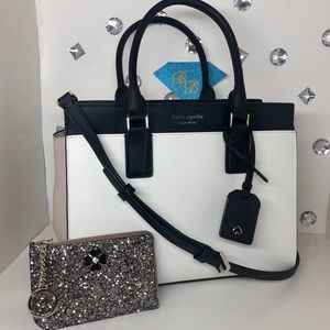 KATE♠️SPADE Cameron Medium Satchel + Wallet Set